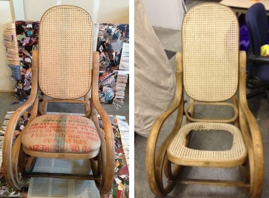 Most Recently Released Upcycled Rocking Chairs Throughout Chair Upcycling & Upholstery Workshop – Rocking Chair Before & After (View 8 of 20)