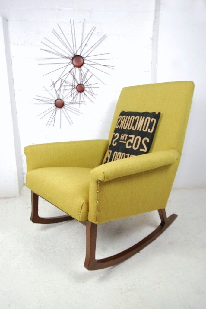 Most Recently Released Upholstered Rocking Chairs Within 1950s Scandinavian Re Upholstered Rocking Chair (View 3 of 20)