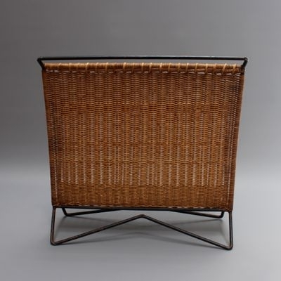 Most Recently Released Wicker Rocking Chair With Magazine Holder For Vintage Italian Wicker And Metal Magazine Rack For Sale At Pamono (View 12 of 20)