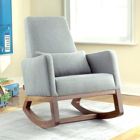Most Recently Released Wood Rocking Chair For Nursery Baby Room Gray Small – Re Blog Within Rocking Chairs For Baby Room (View 13 of 20)