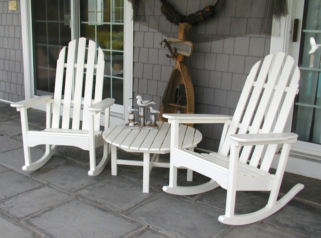 Most Up To Date Excellent Stylish White Outdoor Rocking Chair Captivating Patio Pertaining To White Patio Rocking Chairs (View 9 of 20)