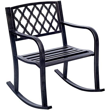 Featured Photo of Outdoor Patio Metal Rocking Chairs