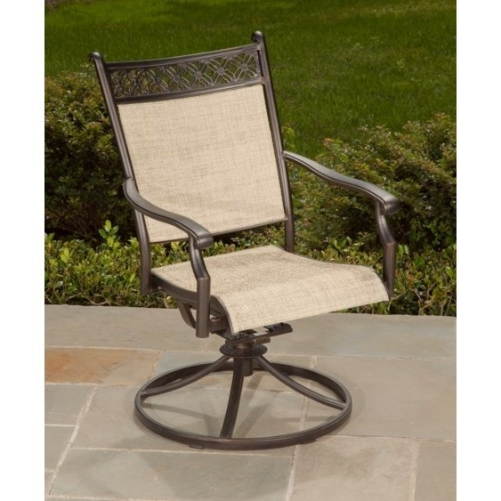 Most Up To Date Outdoor Sling Swivel Rocker Patio Chair – Manhattan (View 10 of 20)
