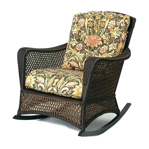Most Up To Date Outdoor Wicker Rocking Chairs With Cushions Inside Plow And Hearth Outdoor Cushions Plow And Hearth Rocking Chair (View 6 of 20)