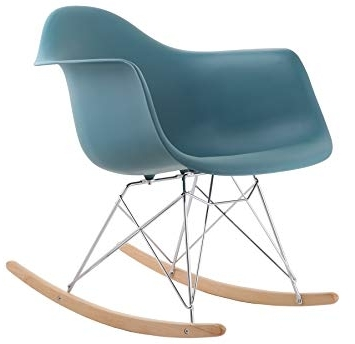 Most Up To Date Retro Rocking Chairs Pertaining To Hnnhome Eames Inspired Rar Lounge Retro Rocker Rocking Chair Leisure (View 10 of 20)