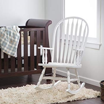 Most Up To Date Rocking Chairs For Baby Room Intended For Amazon: Windsor Baby Nursery Rocking Chair – White: Baby (View 8 of 20)