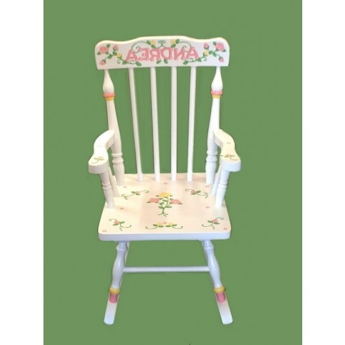 Most Up To Date Rocking Chairs /small White Rocker /roses In Rocking Chairs At Roses (View 7 of 20)