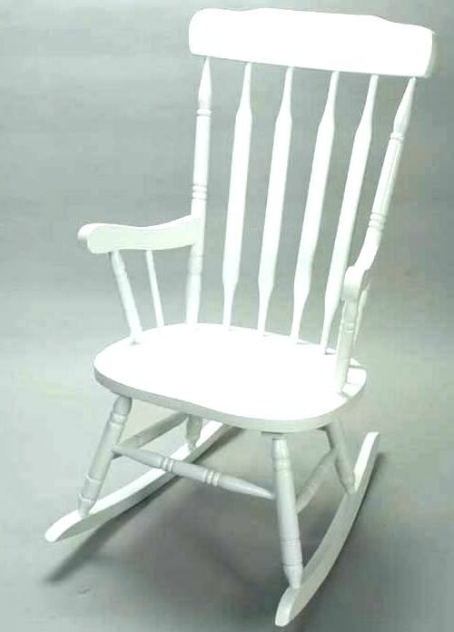 Most Up To Date White Indoor Rocking Chair White Indoor Rocking Chair White Indoor Throughout White Wicker Rocking Chair For Nursery (View 3 of 20)
