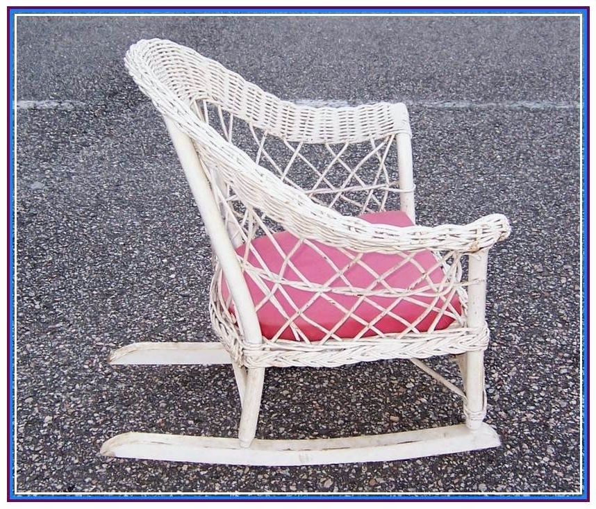 Most Up To Date White Wicker Rocking Chair Link White Wicker Rocking Chair Cheap For White Wicker Rocking Chair For Nursery (View 4 of 20)