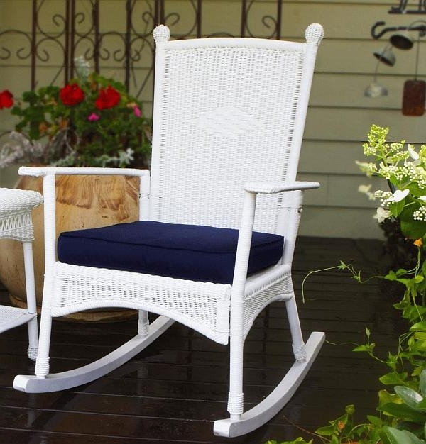 Most Up To Date White Wicker Rocking Chairs Intended For Wicker Rocking Chair In Design : Milton Milano Designs – Lovely (View 12 of 20)