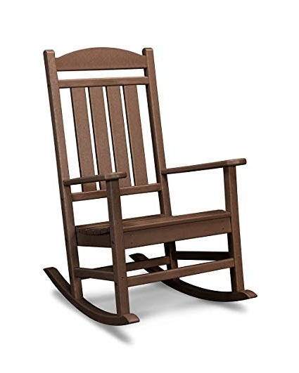 Newest Amazon : Polywood R100Ma Presidential Outdoor Rocking Chair Intended For Rocking Chairs (Gallery 13 of 20)