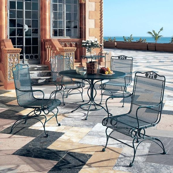 Newest Iron Rocking Patio Chairs Intended For Rocking Patio Furniture Set Image Of Wrought Iron Rocking Patio (Gallery 17 of 20)