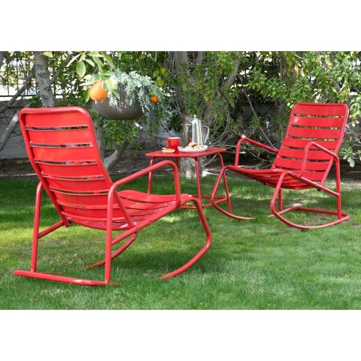 Newest Metal Patio Rocking Chairs – Eggyhead With Regard To Outdoor Patio Metal Rocking Chairs (View 5 of 20)