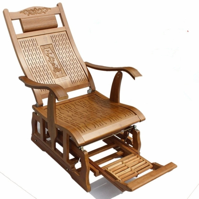 Newest Modern Bamboo Rocking Chair Adult Glider Rocker Natural Bamboo With Regard To Rocking Chairs For Adults (View 11 of 20)