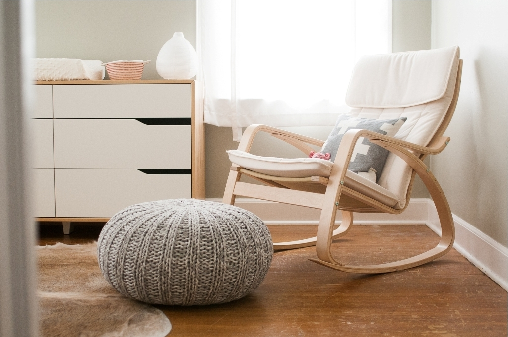 Nursery Rocking Chair And Footstool : Perfect Nursery Rocking Chair Throughout Most Current Rocking Chairs With Footstool (View 13 of 20)