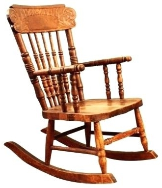 Old Fashioned Rocking Chairs Within Well Liked Antique Cane Rocking Chair Antique Press Back Child39s Rocker (Gallery 1 of 20)