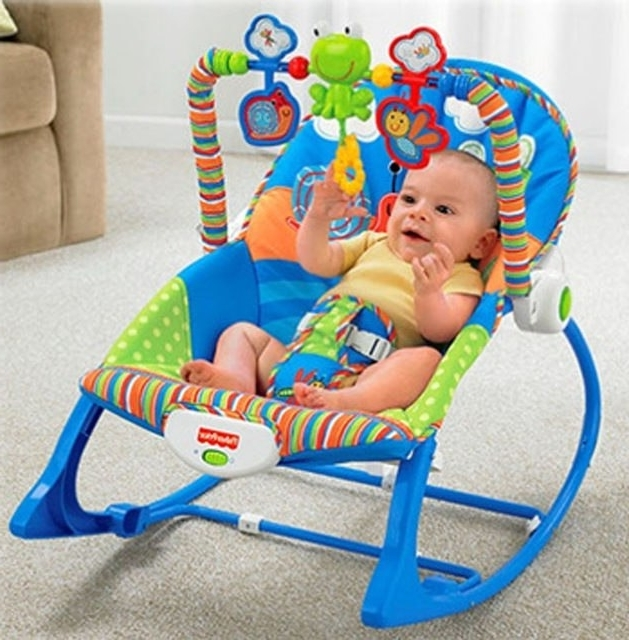 Online Shop Electric Infant Baby Rocking Chair For Newborn Swing Inside Favorite Rocking Chairs For Babies (Gallery 10 of 20)