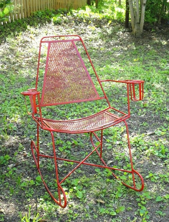 Outdoor Patio Metal Rocking Chairs Regarding Most Up To Date Metal Rocking Chair Breathtaking Runners – Savaayo (Gallery 9 of 20)