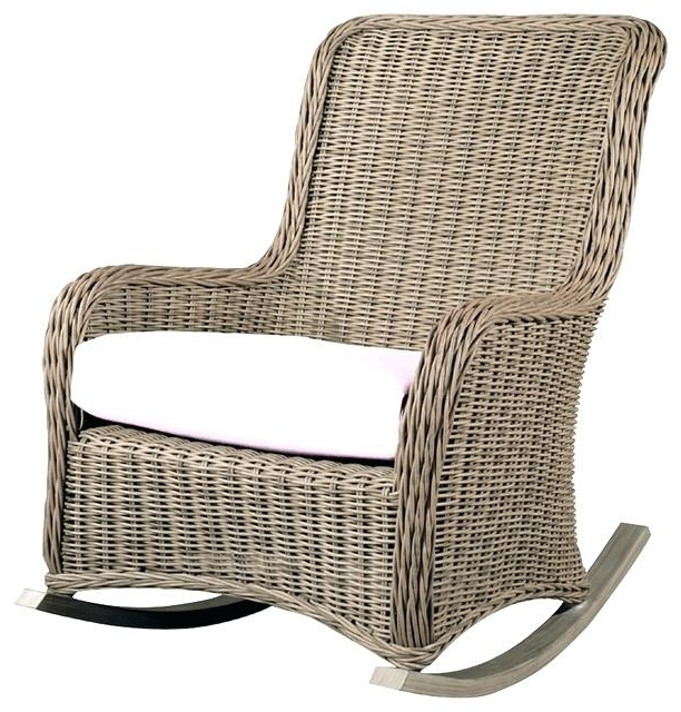 Outdoor Rattan Rocking Chair Spring Haven Brown Wicker Outdoor Patio Inside Trendy Brown Wicker Patio Rocking Chairs (View 15 of 20)