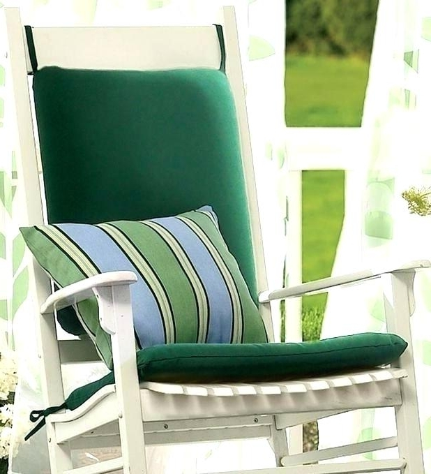 Outdoor Rocker Cushions Green Wicker Chair Cushions Outdoor Rocking Within Well Known Patio Rocking Chairs With Cushions (Gallery 19 of 20)