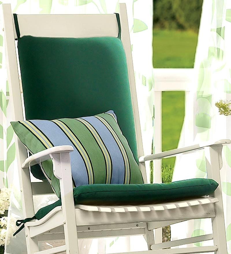 Outdoor Rocking Chair Cushions Chic Image Of Outdoor Rocking Chair Regarding Popular Rocking Chair Cushions For Outdoor (Gallery 13 of 20)