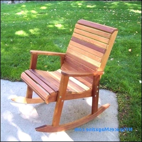 Outdoor Rocking Chairs – Chair Design Ideas Pertaining To Newest Wooden Patio Rocking Chairs (Gallery 7 of 20)
