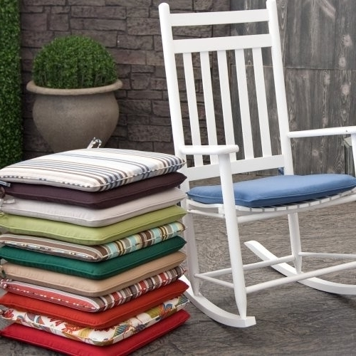 Outdoor Rocking Chairs With Cushions Intended For 2017 Outdoor Rocking Chair Cushion (View 11 of 20)