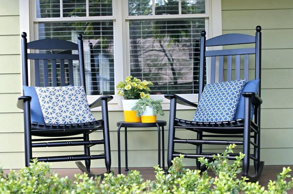 Outdoor Rocking Chairs With Cushions Within Most Recent Outdoor Rocking Chair Cushions Model — All Modern Rocking Chairs (View 17 of 20)