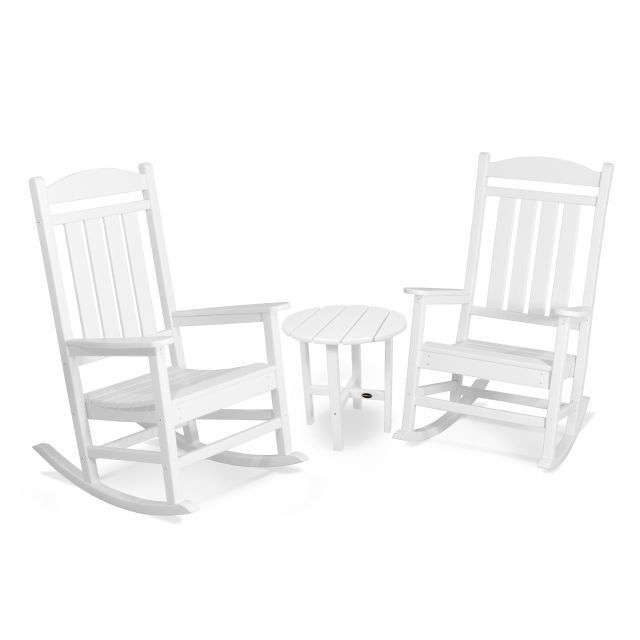 Outdoor Rocking Chairs With Table In Trendy Shop Polywood Presidential 3 Piece Outdoor Rocking Chair Set With (View 13 of 20)