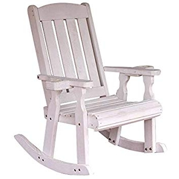 Outdoor Vinyl Rocking Chairs Pertaining To Newest Amazon : White Outdoor Rocking Chair – 600 Lb. Capacity : Patio (Gallery 20 of 20)