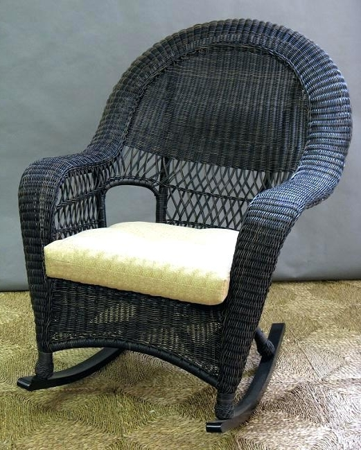 Outdoor Wicker Rocking Chairs Nantucket Resin Chair With Reversible With Most Recently Released Outdoor Wicker Rocking Chairs (View 8 of 20)