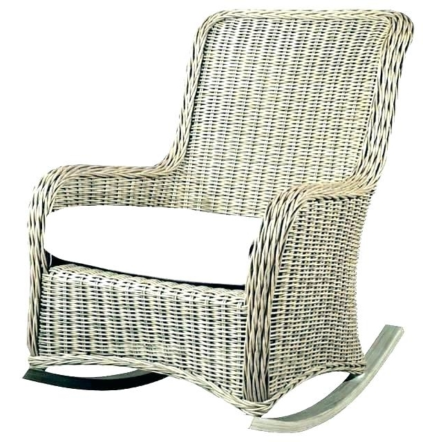 Outdoor Wicker Rocking Chairs Regarding Trendy White Wicker Rocking Chair – Blakeappleby (Gallery 11 of 20)