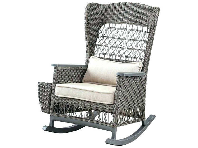 Outdoor Wicker Rocking Chairs Surprising Chair Dogwood Rocker With Within Most Up To Date Wicker Rocking Chairs For Outdoors (View 10 of 20)