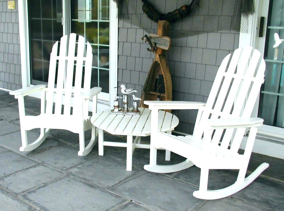 Outside Rocking Chair Sets Inside Recent Chairs For Porch Front Porch Rockers Lawn Chairs Target – Chair (View 12 of 20)
