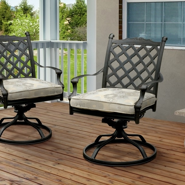 Outside Rocking Chair Sets With Well Known Furniture Of America Camille Dark Bronze Outdoor Rocking Chair (set (View 10 of 20)
