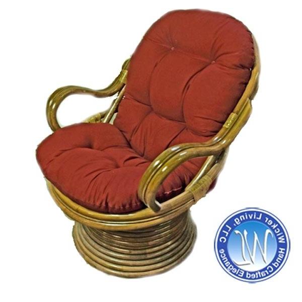 Outstanding Wicker Rocking Chair With Cushion Image Ideas – Chamisa (View 11 of 20)