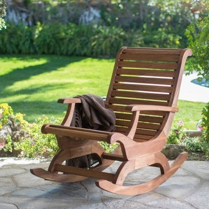 Oversized Patio Rocking Chairs For Famous Belham Living Avondale Oversized Outdoor Rocking Chair – Natural (View 10 of 20)