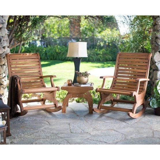 Oversized Patio Rocking Chairs Within 2017 Belham Living Avondale Oversized Outdoor Rocking Chair – Natural (Gallery 20 of 20)
