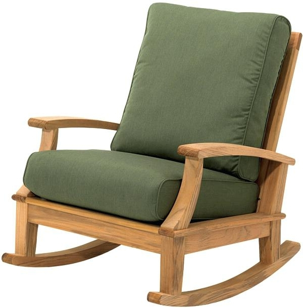 Padded Patio Rocking Chairs Regarding Newest Padded Outdoor Rocking Chair Padded Sling Swivel Rocker Dining Arm (View 7 of 20)