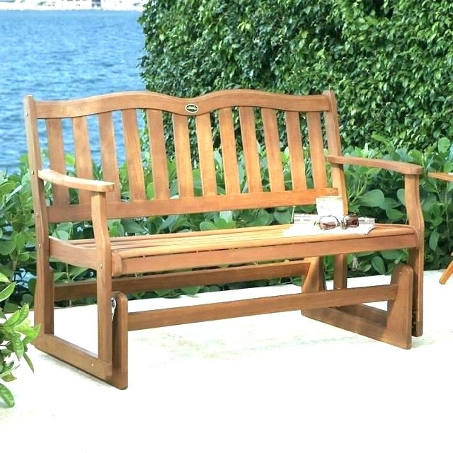 Patio Glider Bench Outdoor Swinging Benches Rocking Chair – Dfyitscv For Preferred Patio Furniture Rocking Benches (View 14 of 20)