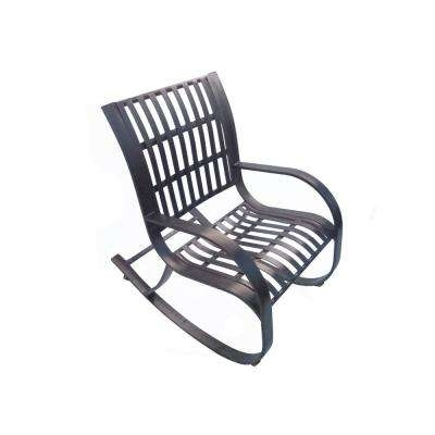 Patio Metal Rocking Chairs With Most Up To Date Stationary – Armchair – Metal Patio Furniture – Rocking Chairs (View 13 of 20)