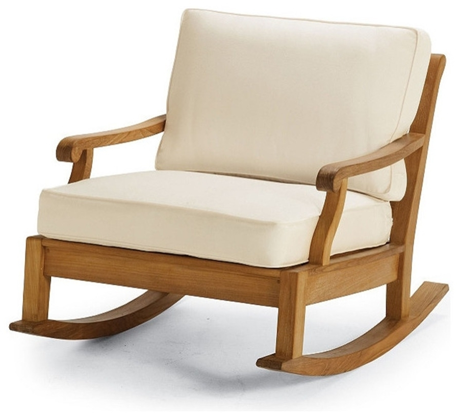 Patio Rocking Chair With Cushions — Wilson Home Ideas : Choosing A For Preferred Rocking Chairs With Cushions (View 8 of 20)