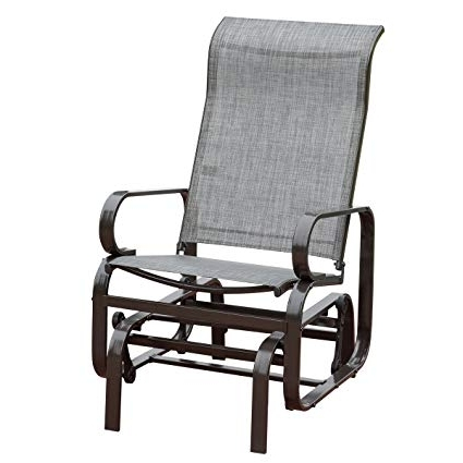 Patio Rocking Chairs And Gliders For Favorite Amazon: Hollyhome Outdoor Patio Rocker Chair, Balcony Glider (View 13 of 20)