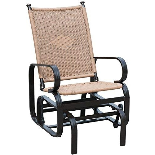 Patio Rocking Chairs And Gliders Within Famous Amazon : Patiopost Glider Chair Outdoor Pe Wicker Patio Rocking (View 17 of 20)