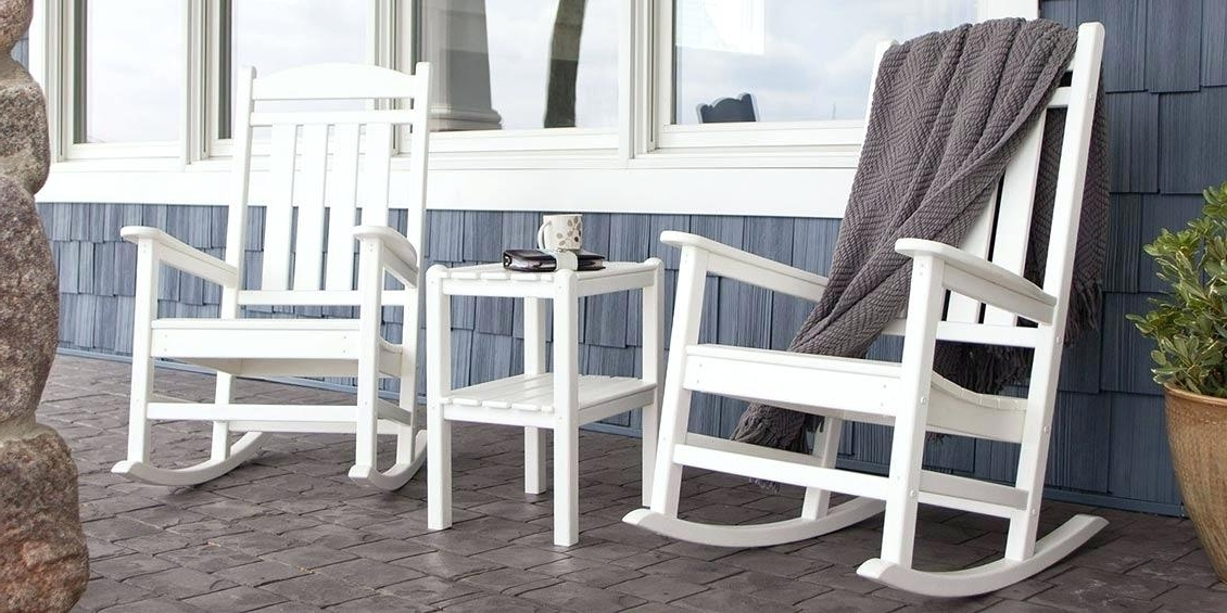 Patio Rocking Chairs And Table Pertaining To Most Current Rocking Patio Furniture Set Rocking Patio Furniture Rocking Chair (View 11 of 20)