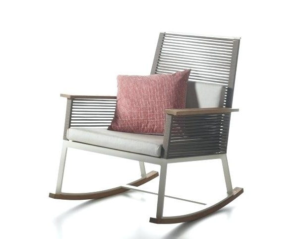 Patio Rocking Chairs With Ottoman Regarding Recent Modern Patio Rocking Chair Sofa Decorative Modern Outdoor Rocking (View 11 of 20)