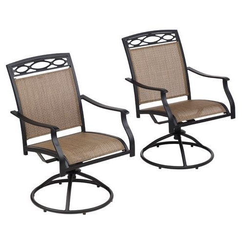 Patio Sling Rocking Chairs Within Famous Patio Chairs At Academy – Mosaic Sling Swivel Rocker Chair Set (View 8 of 20)