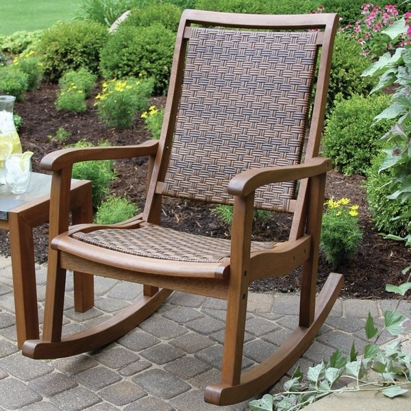 Picturesque Outdoor Rocking Chair Of Impressive Patio Chairs Wood Pertaining To Most Popular Rona Patio Rocking Chairs (View 9 of 20)