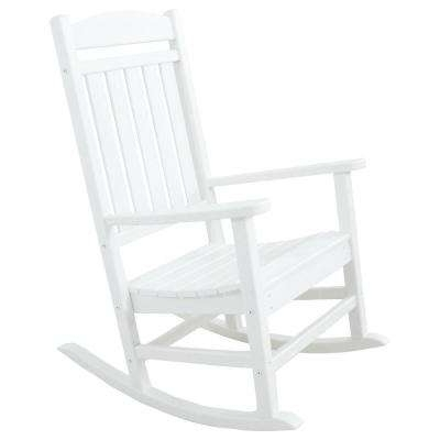 Plastic Patio Rocking Chairs In Recent Rocking Chairs – Patio Chairs – The Home Depot (View 13 of 20)
