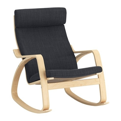 Poäng Rocking Chair Birch Veneer/hillared Anthracite – Ikea Pertaining To Fashionable Rocking Chairs At Ikea (View 11 of 20)